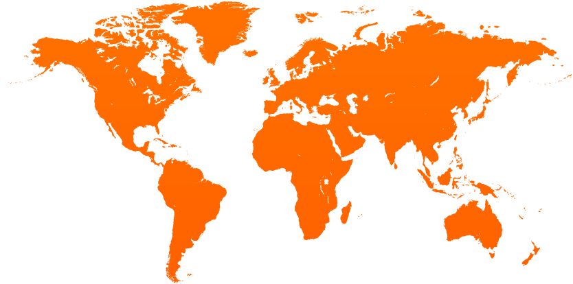 world map - global network coverage